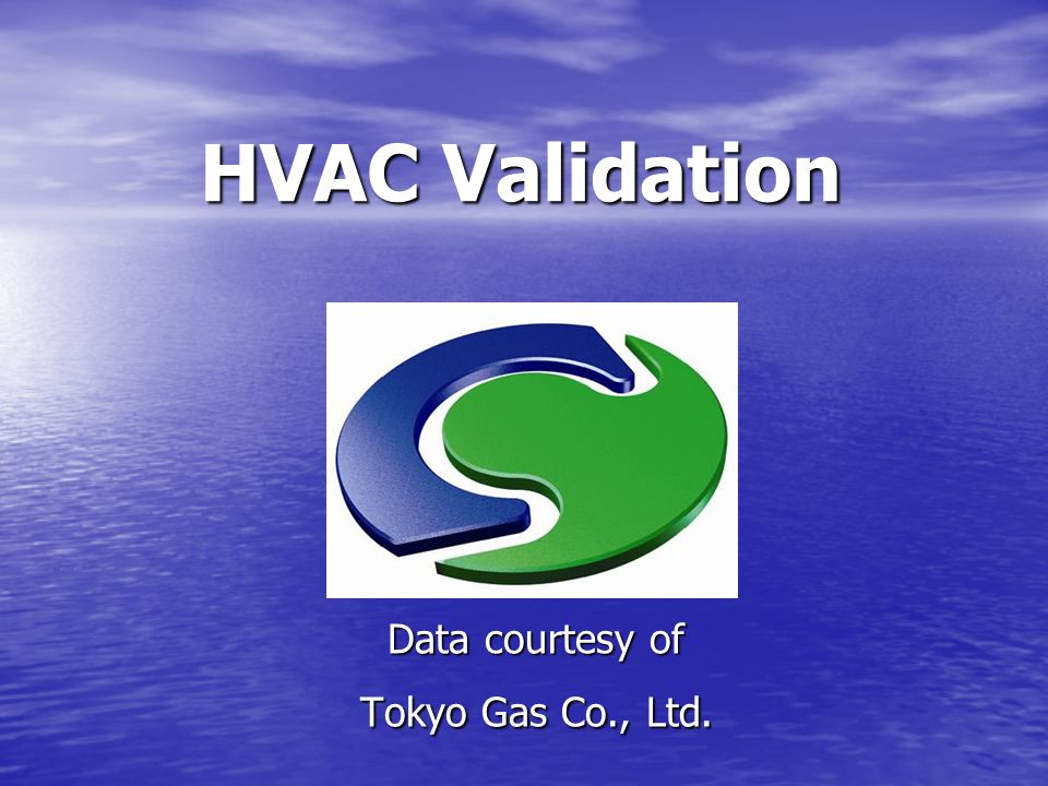 Data courtesy of Tokyo Gas Co., Ltd.