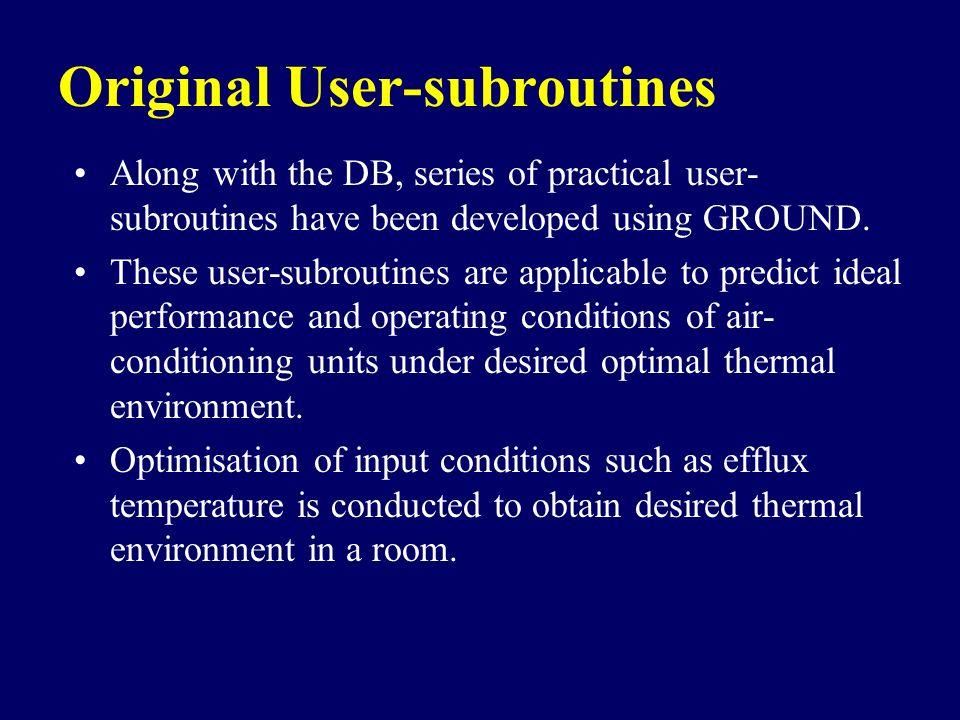 Original User-subroutines
