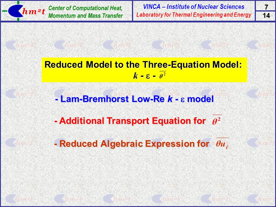 Reduced Model to the Three-Equation Model:
