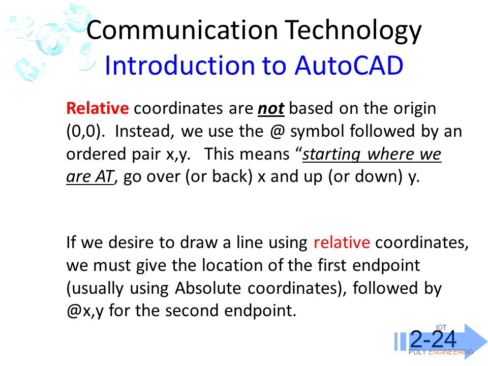 Drawing Lines In Autocad Using Coordinates : March quiz monday on the following ppt video online