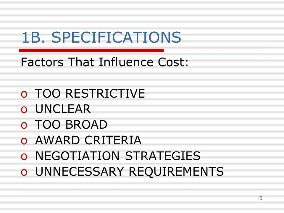 factors influence procurement strategy 40 strategic approach to procurement  43 procurement strategy 4–4  influence the approved organisation's ability to obtain better value for money if.