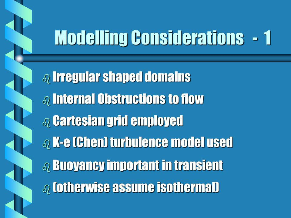 Modelling Considerations - 1