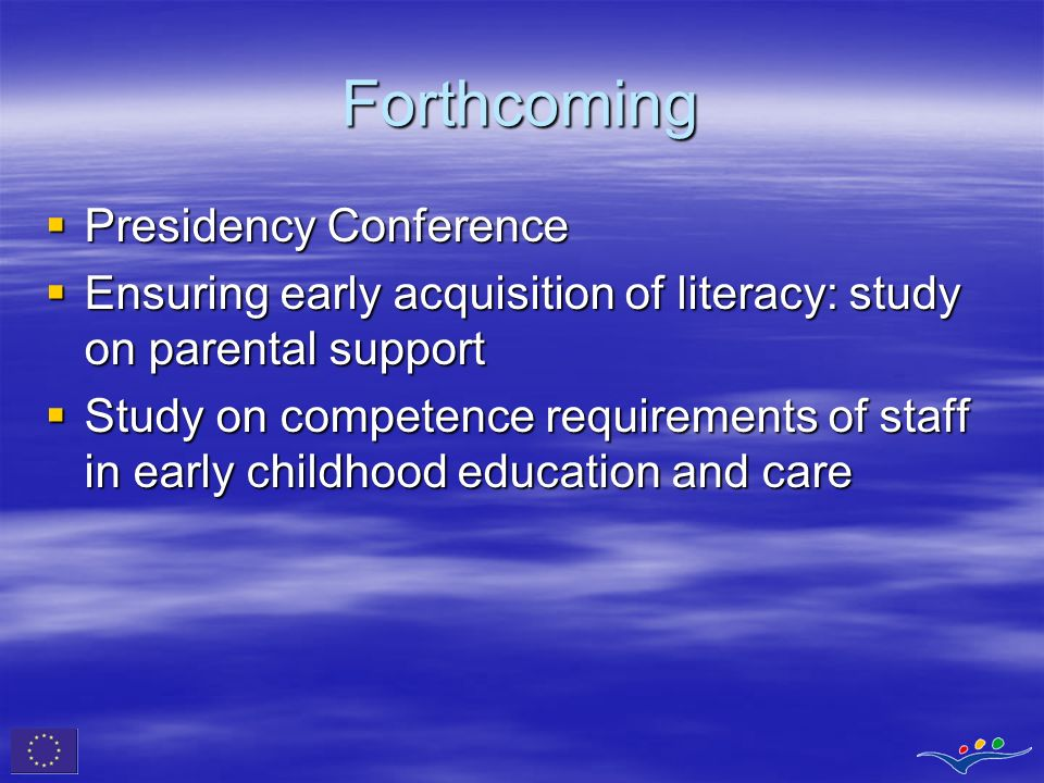 Forthcoming Presidency Conference