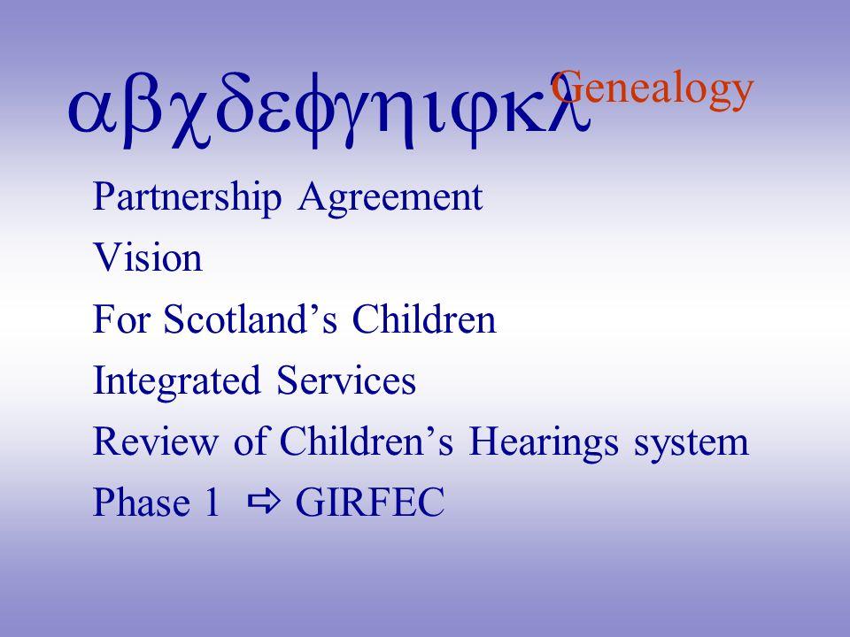 Genealogy Partnership Agreement Vision For Scotland's Children