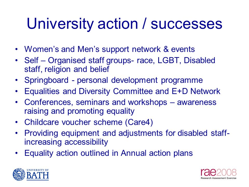University action / successes