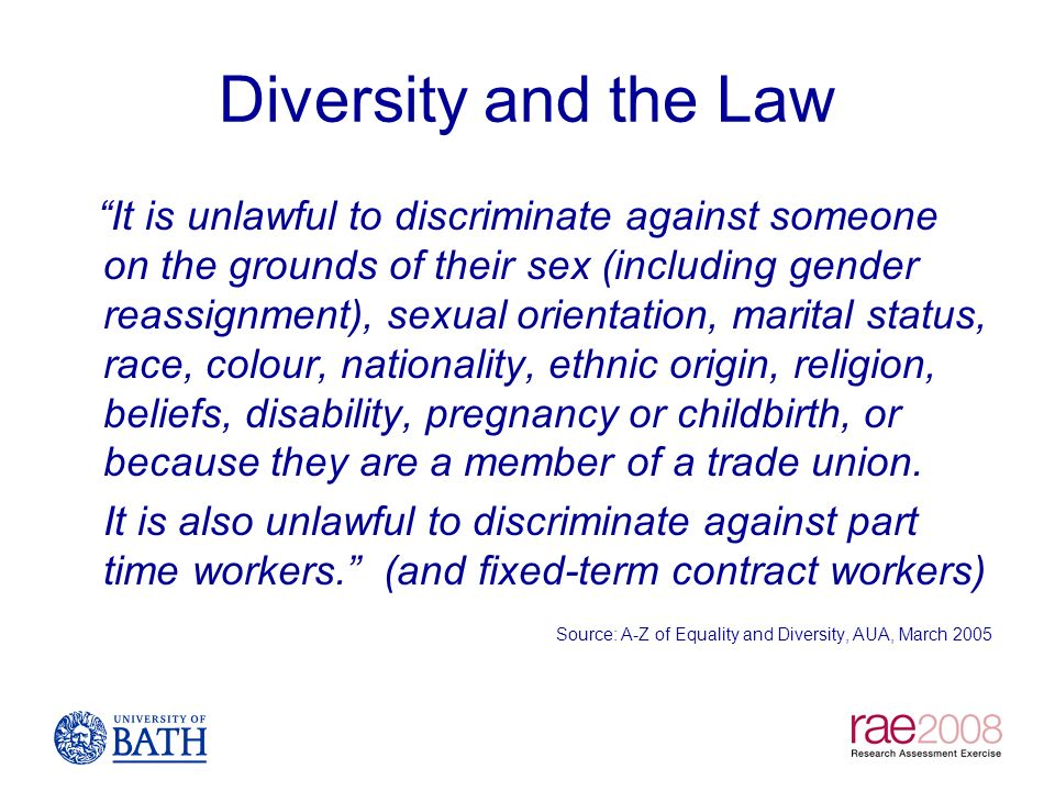 Diversity and the Law