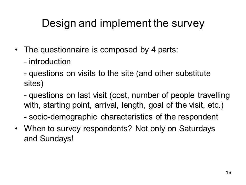 Design and implement the survey