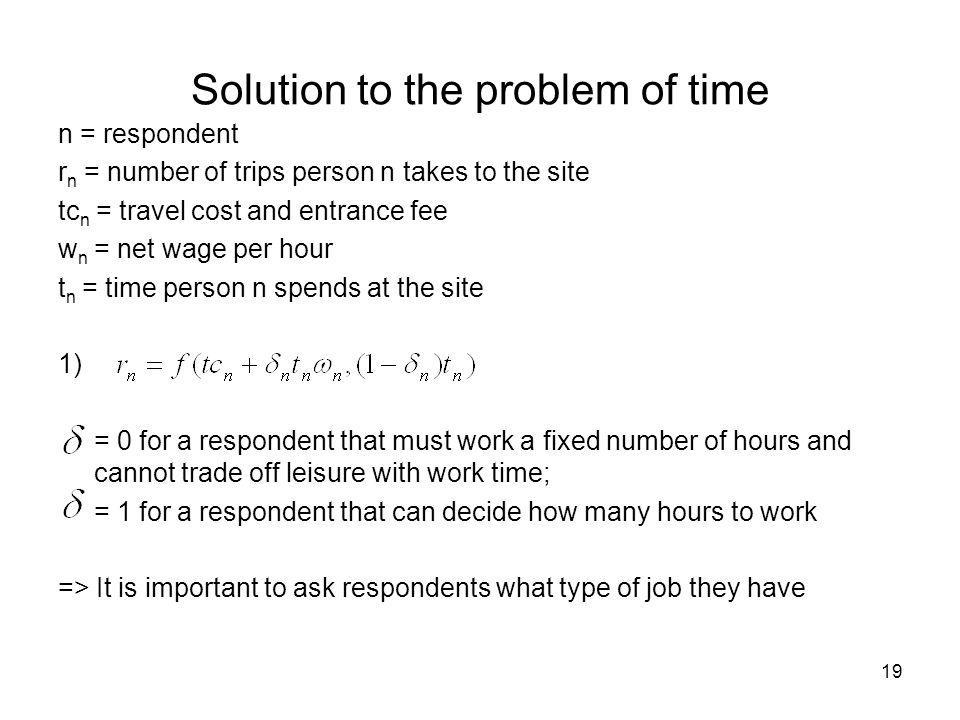 Solution to the problem of time