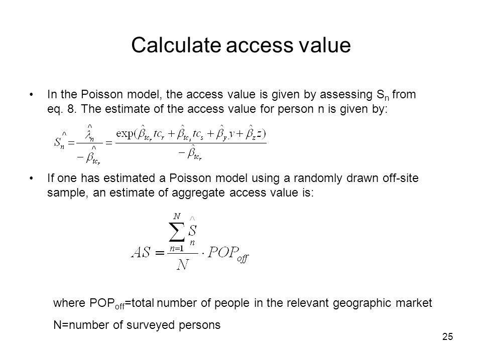 Calculate access value