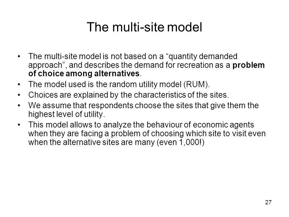 The multi-site model