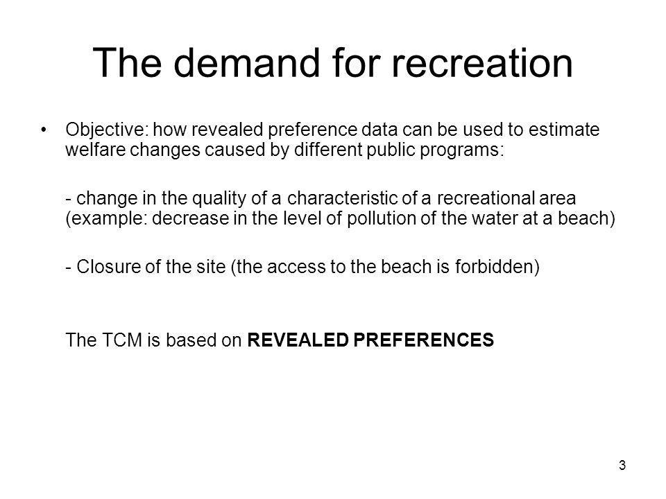 The demand for recreation