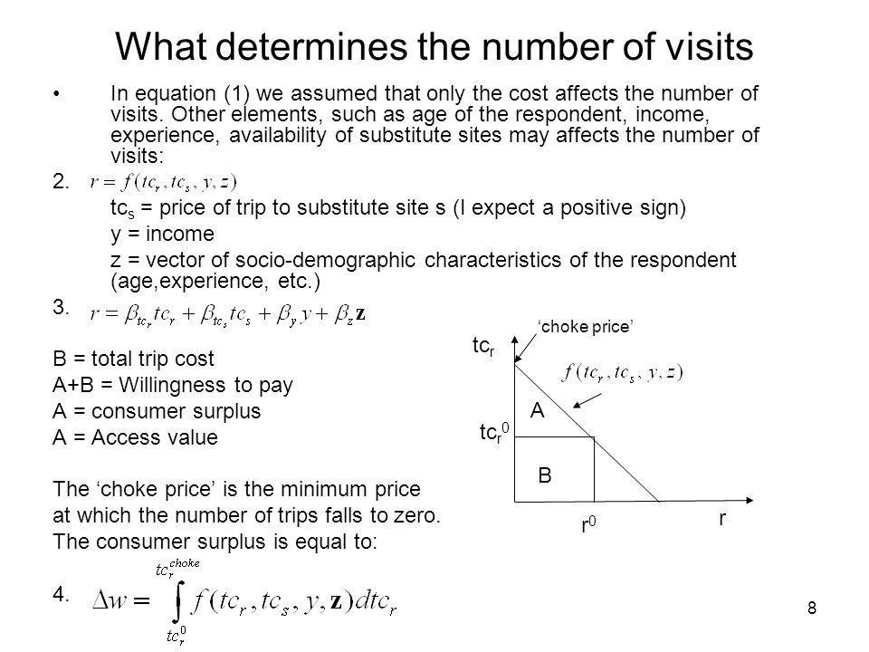 What determines the number of visits