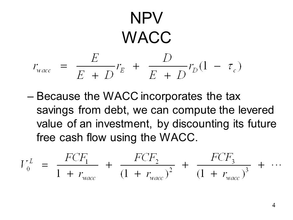 npv after tax As explained in the first lesson, net present value (npv) is the cumulative present  npv = net present worth positive and negative cash flow @i or  tax and cash flow analysis lesson 9: after-tax decision methods and applications.