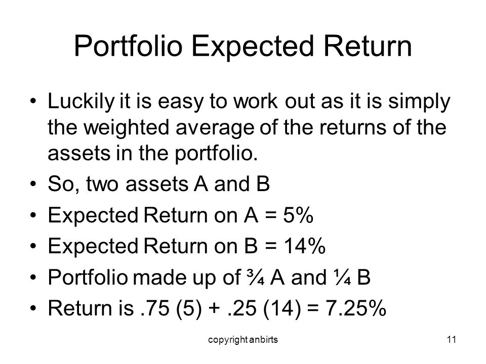 Portfolio Expected Return