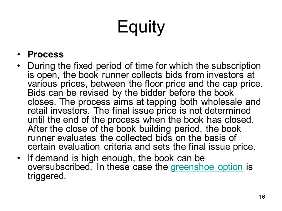 Equity Process.