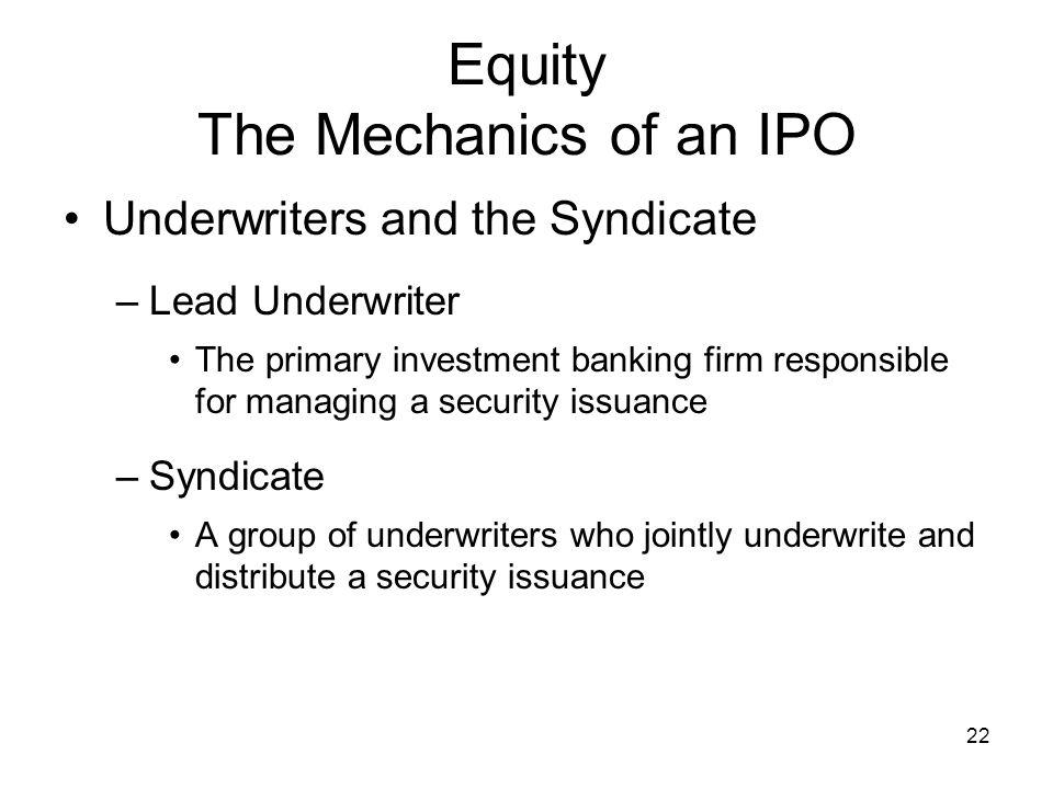 Equity The Mechanics of an IPO