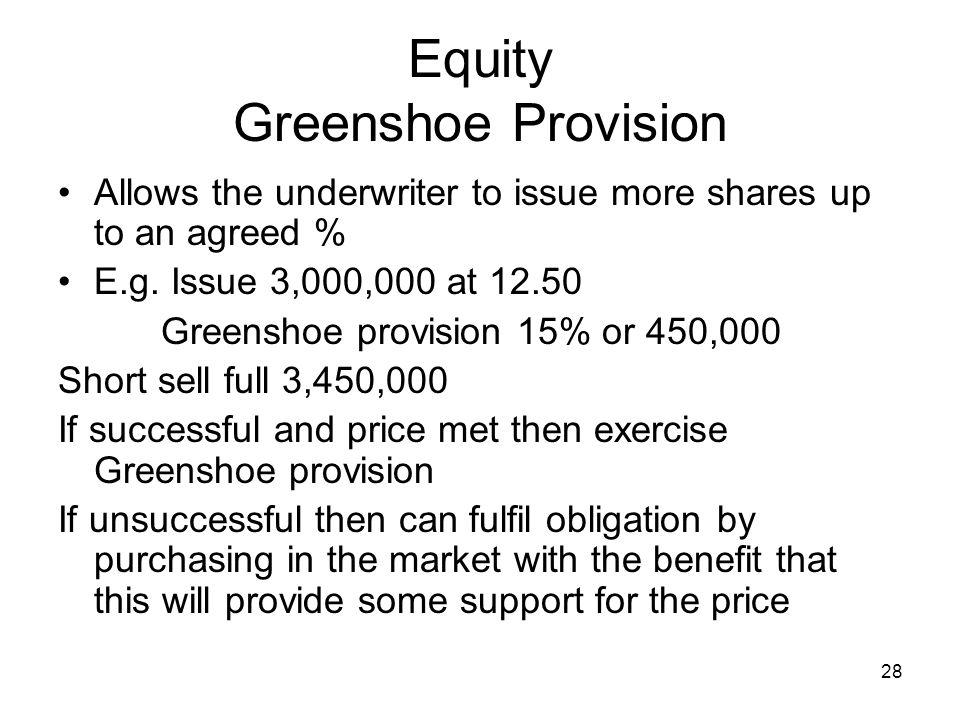 Equity Greenshoe Provision