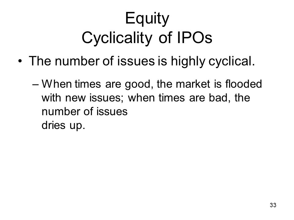 Equity Cyclicality of IPOs