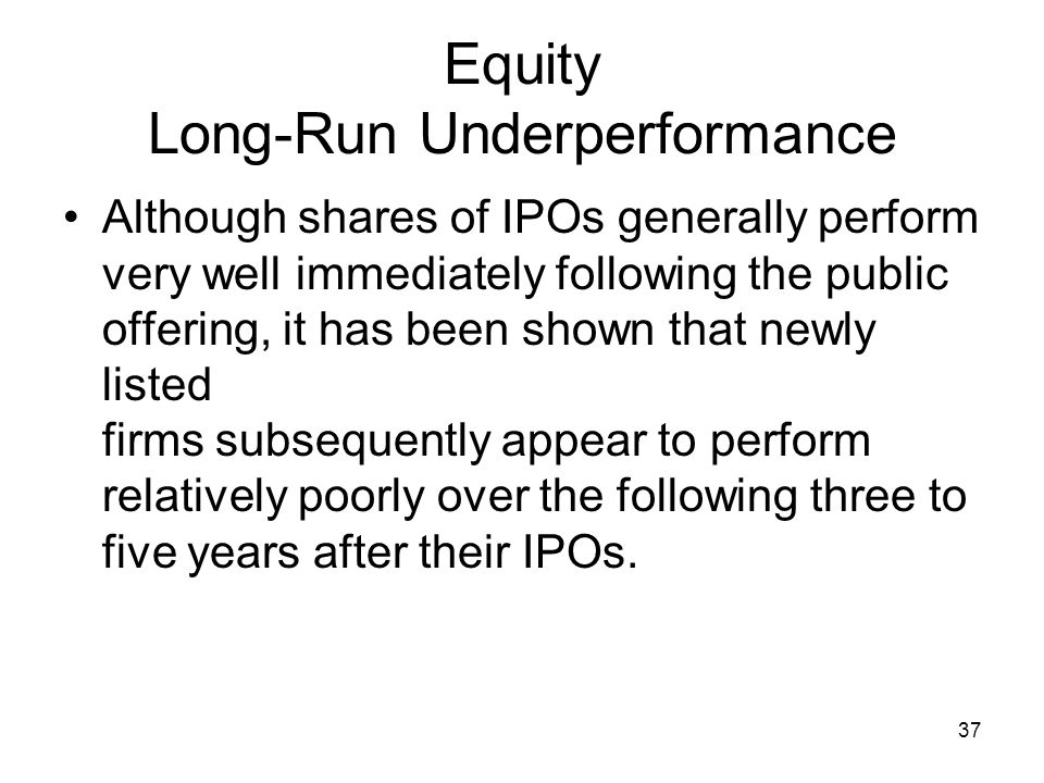 Equity Long-Run Underperformance