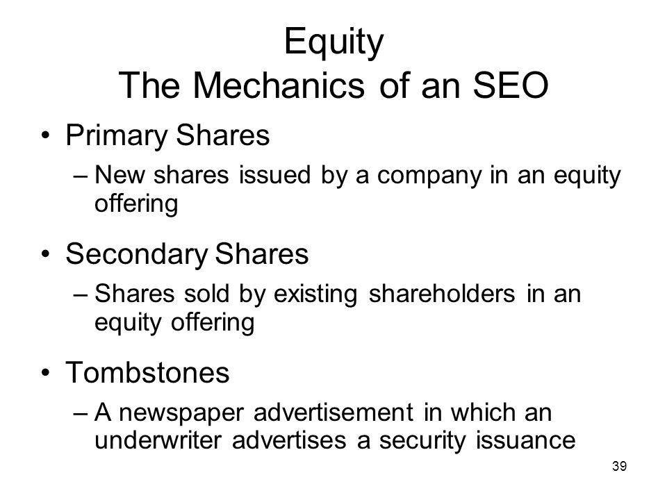 Equity The Mechanics of an SEO