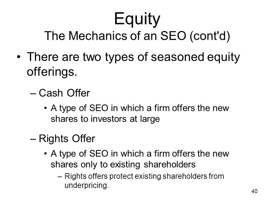Equity The Mechanics of an SEO (cont d)
