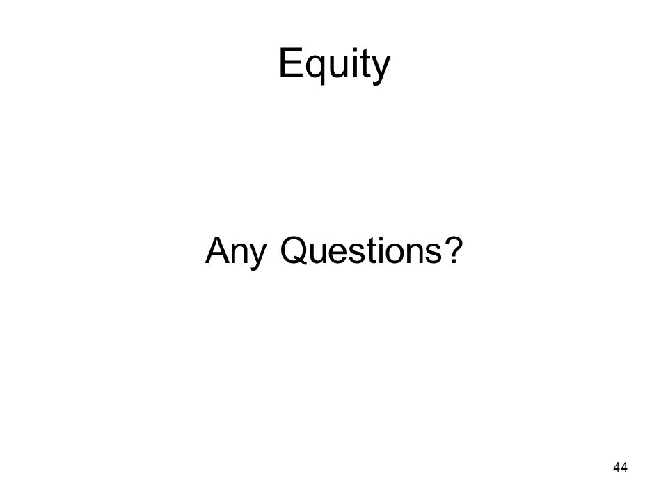 Equity Any Questions