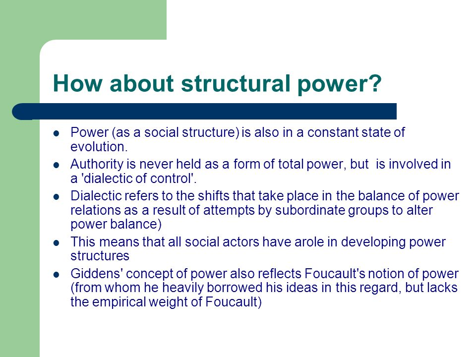 How about structural power