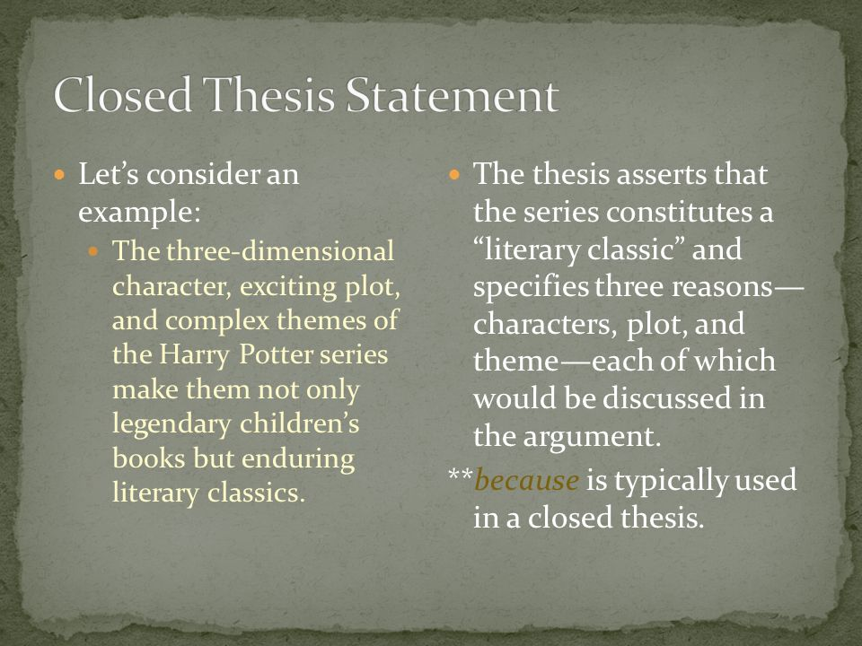 arguable thesis statement Thesis statements a thesis statement is one of the most important elements of any successful essay a thesis statement controls the subject matter of the essay and states something significant to the reader.