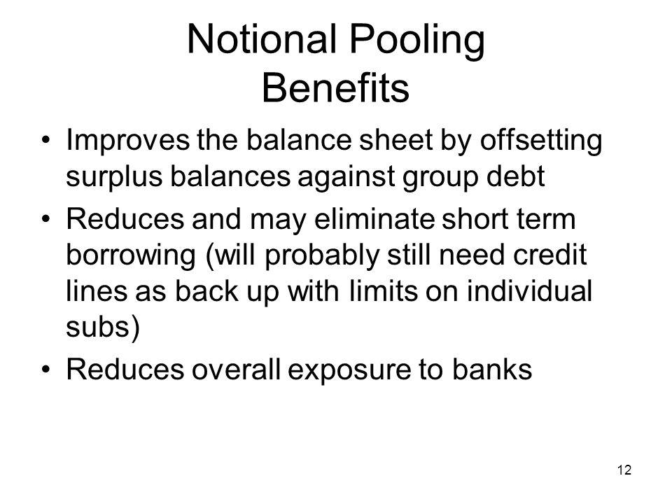 Notional Pooling Benefits