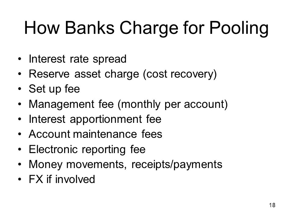 How Banks Charge for Pooling