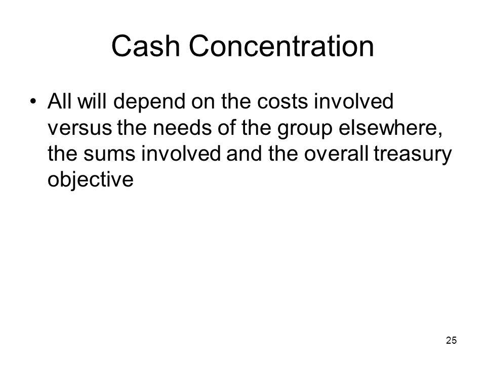 Cash Concentration