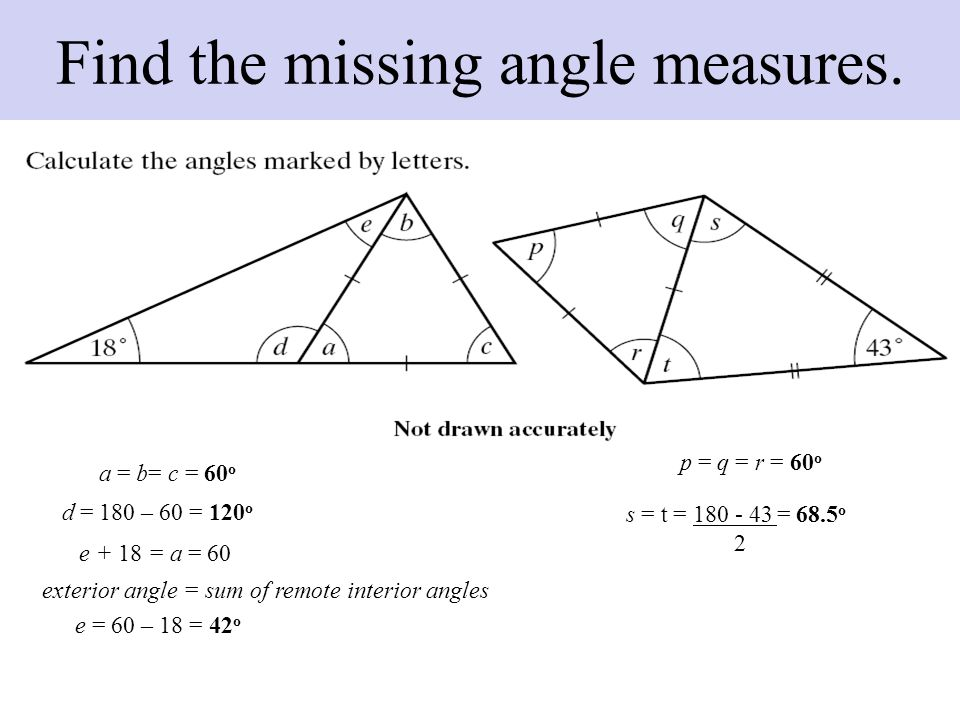 Discover The Properties Of Isosceles Triangles Ppt