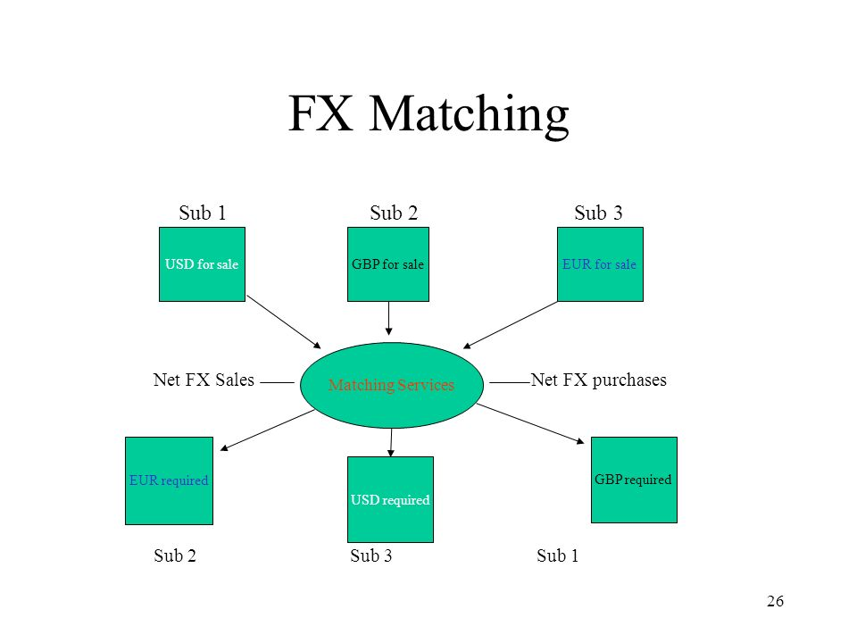 FX Matching Sub 1 Sub 2 Sub 3 Net FX Sales Net FX purchases
