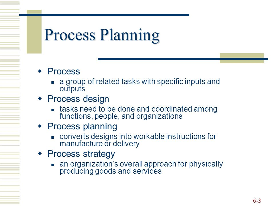 Processes Technology And Capacity Ppt Download