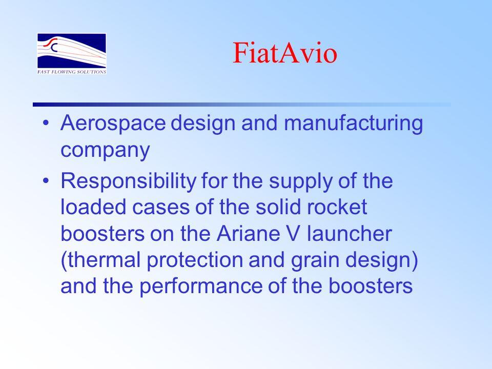 FiatAvio Aerospace design and manufacturing company