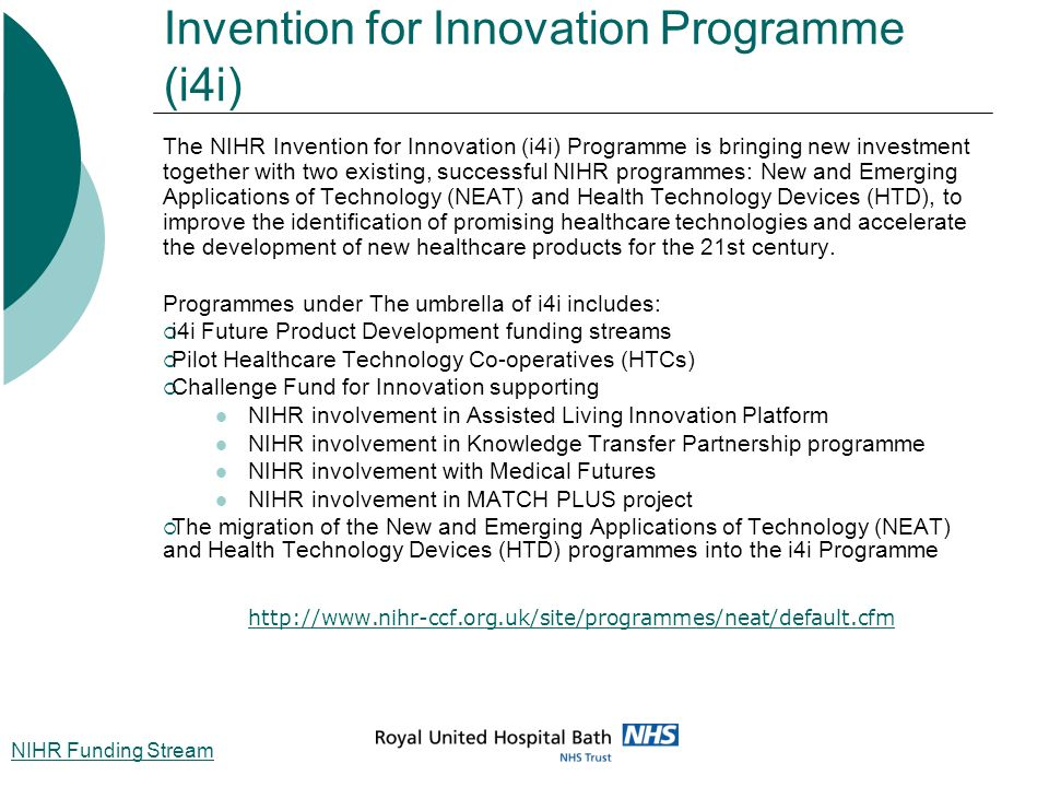 Invention for Innovation Programme (i4i)
