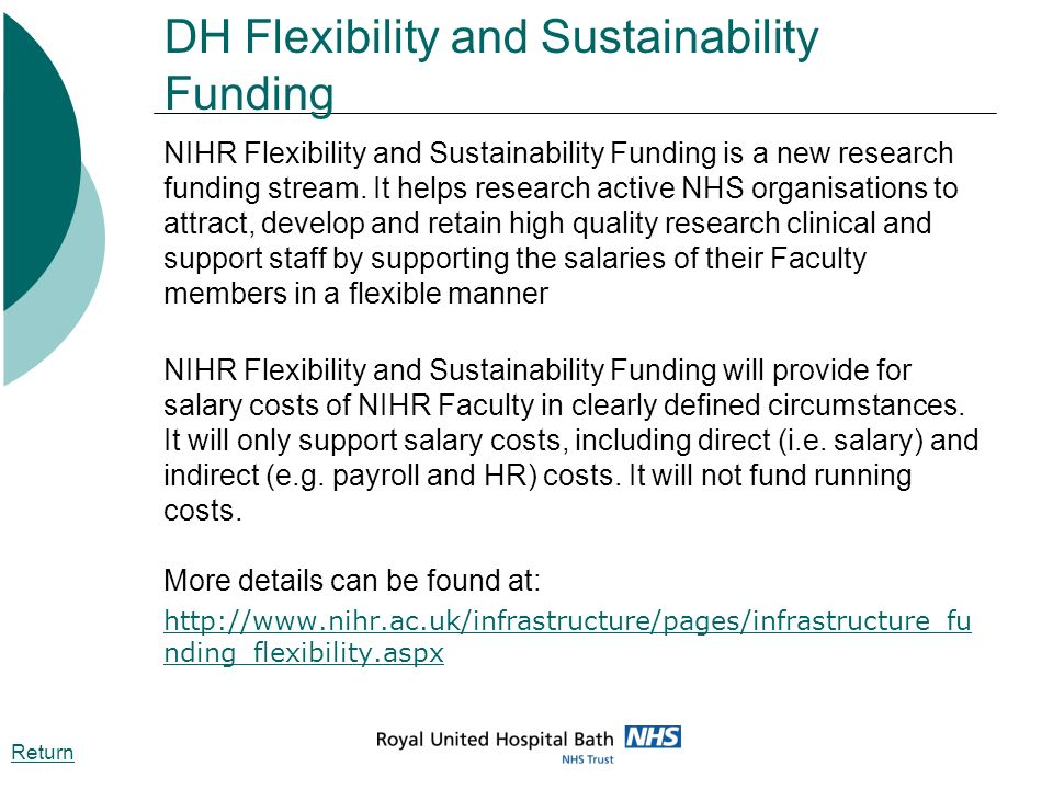 DH Flexibility and Sustainability Funding
