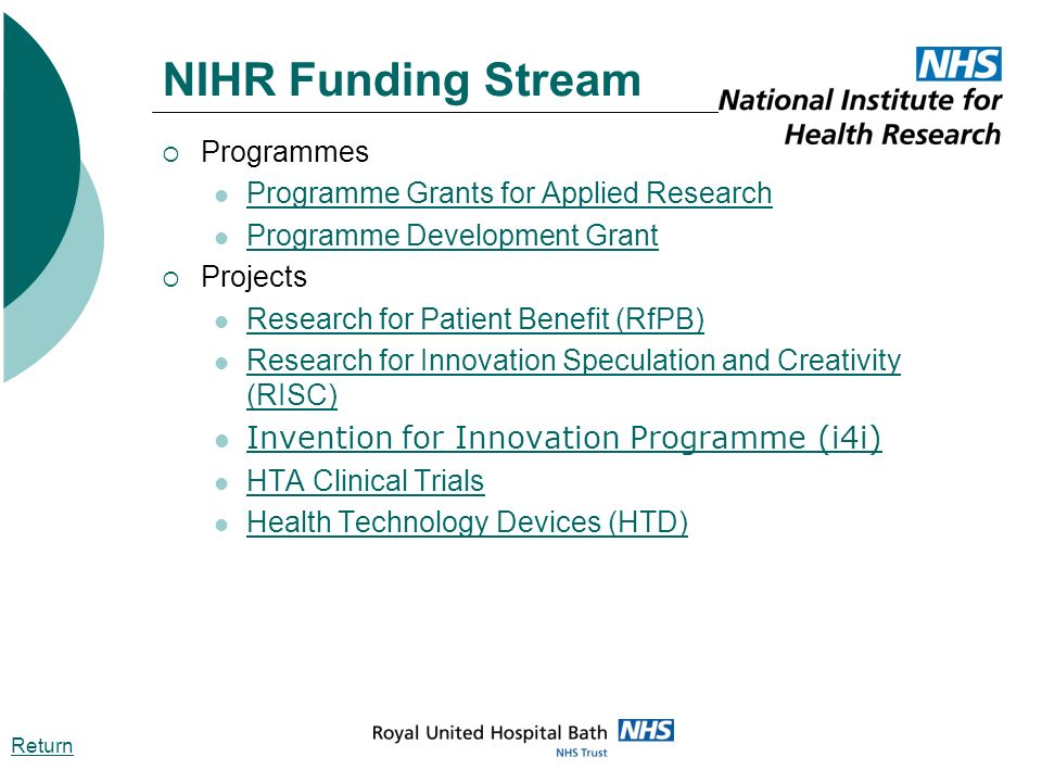 NIHR Funding Stream Invention for Innovation Programme (i4i)
