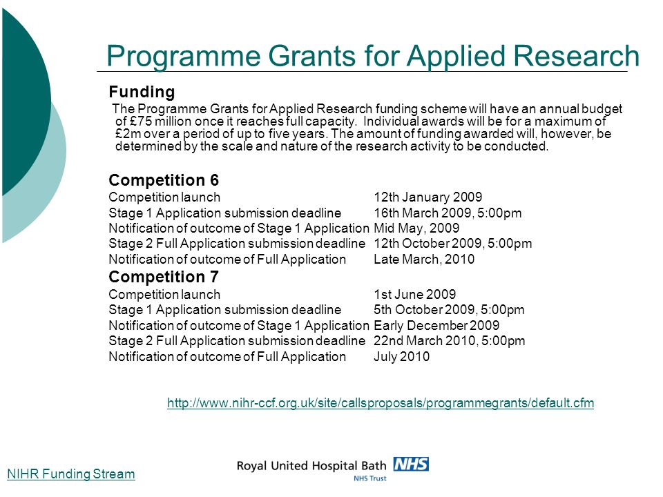 Programme Grants for Applied Research
