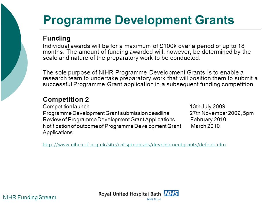 Programme Development Grants