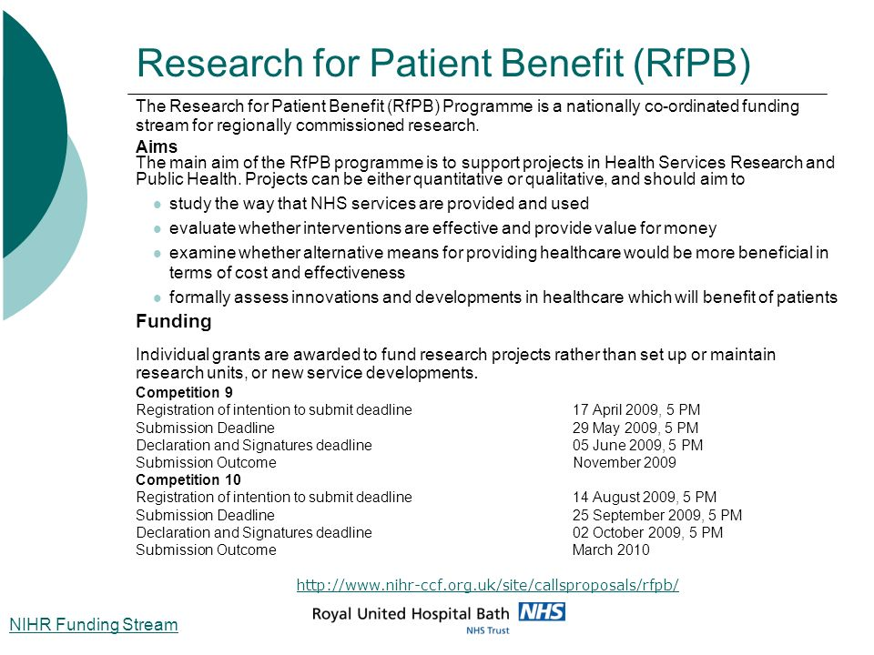 Research for Patient Benefit (RfPB)