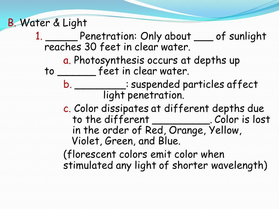 Light Penetration Water 13