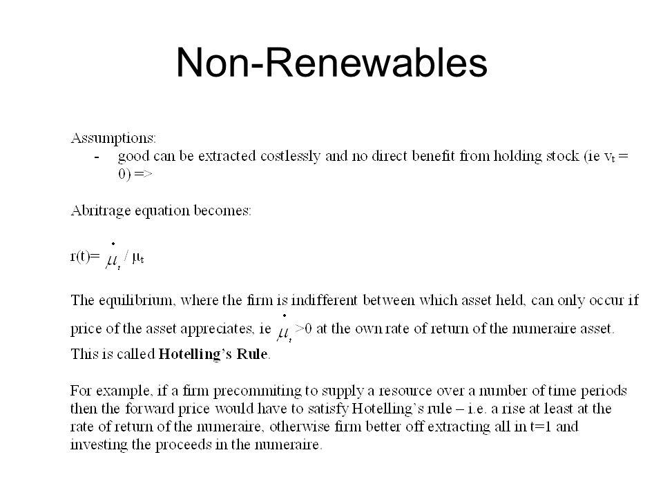 Non-Renewables