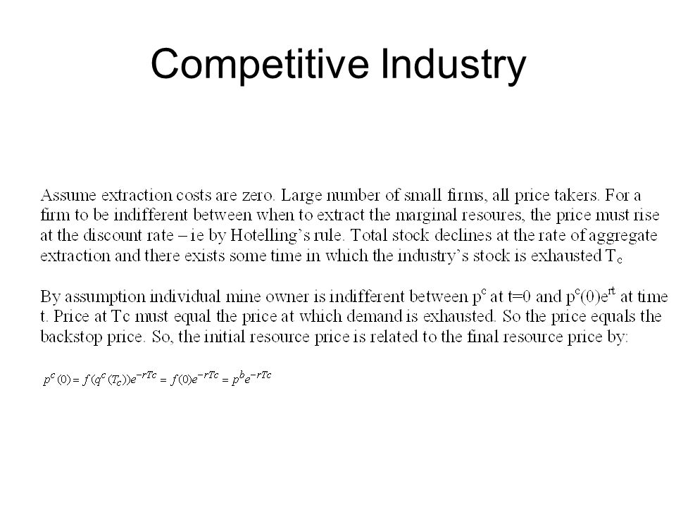 Competitive Industry