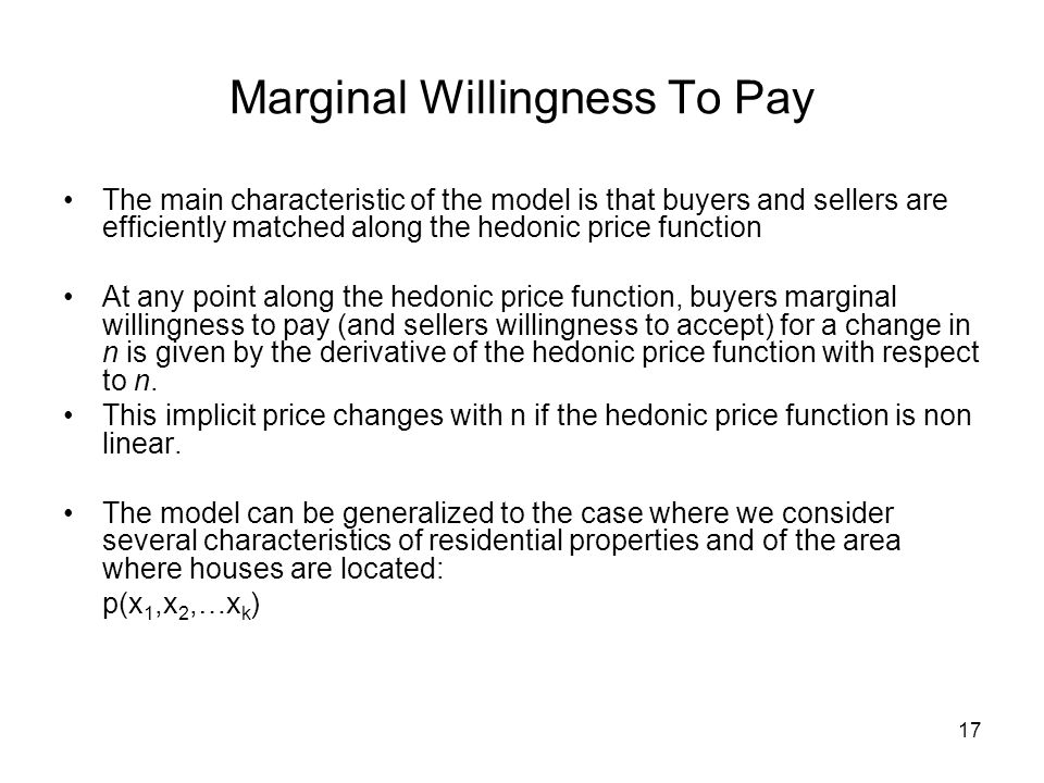 Marginal Willingness To Pay