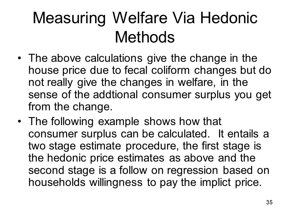 Measuring Welfare Via Hedonic Methods