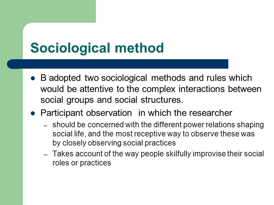 Sociological method