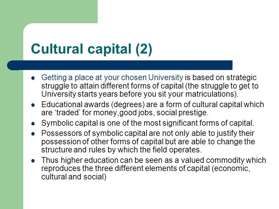 Cultural capital (2)