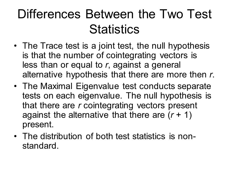 Differences Between the Two Test Statistics