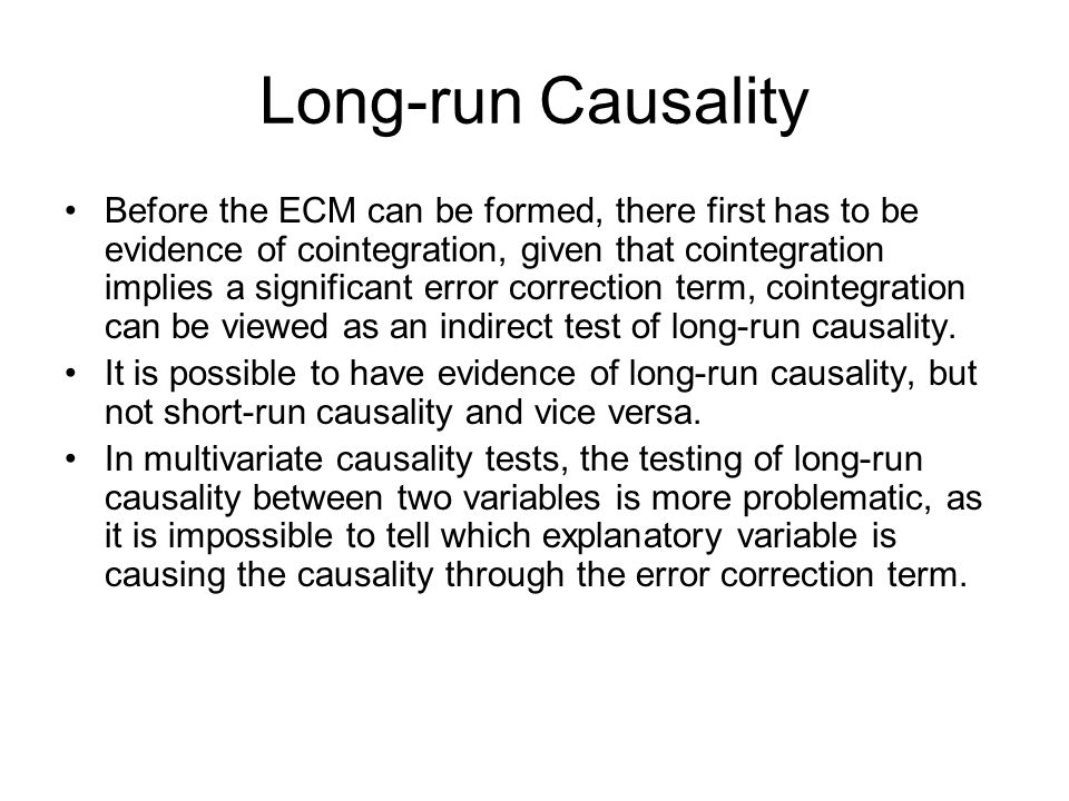 Long-run Causality